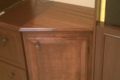 Mahogany cabinet transition