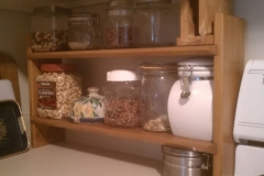 Countertop shelf organizer