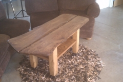 Madrone slab coffee table