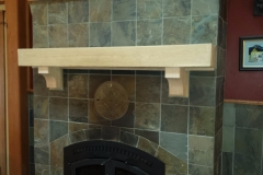 Black oak mantle corbels