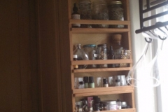 Cabinet mount spice rack