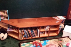 Toybox bookshelf bench