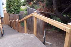 Cedar handrail with landings