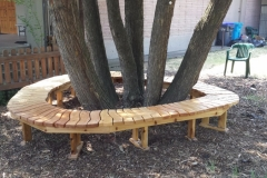 Circular bench at Ashland UU